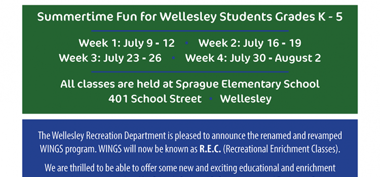 Recreational Enrichment Classes (REC) – Summer 2018