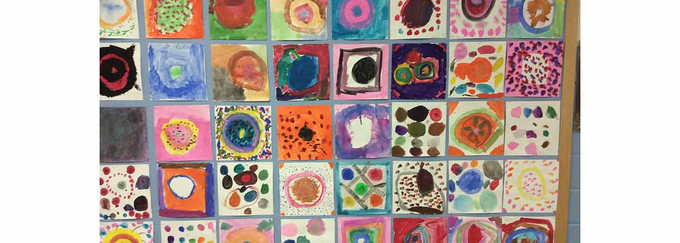 Students' interpretation of The Dot by Peter Reynolds.