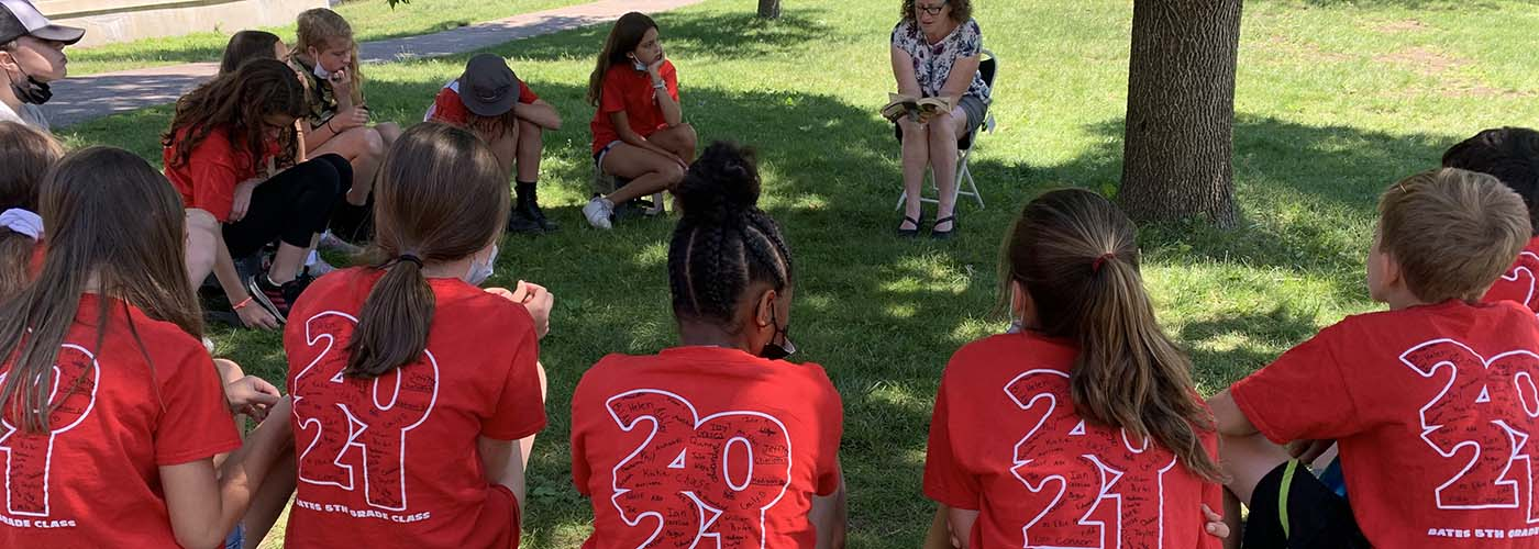 Fifth Graders in Red T-Shirts