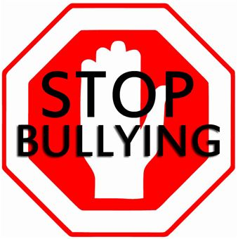 Stop Bullying Stop Sign with Hand