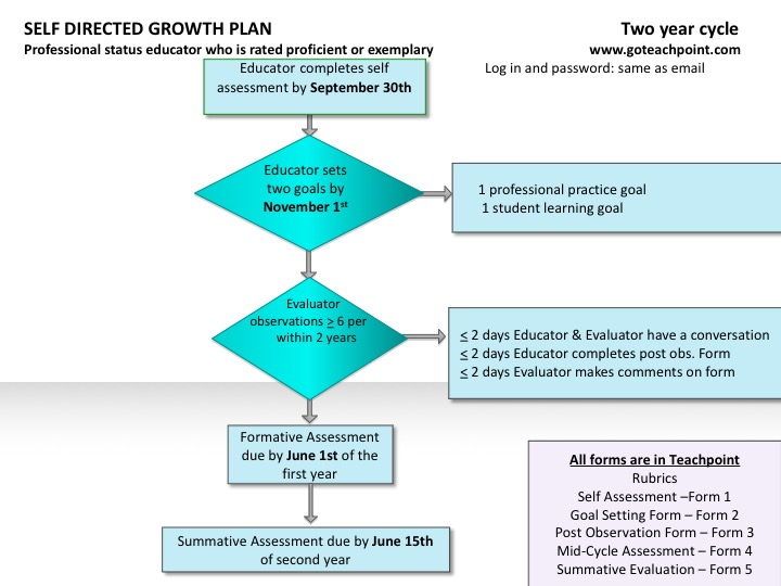 Self Directed Growth Plan Two Year Cycle Flow Chart (same information as presented in the text above)