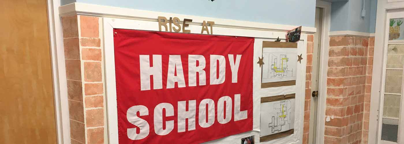RISE at Hardy bulletin board