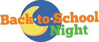 Back to School Night – Thursday, Sept. 19