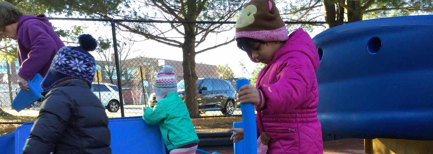 PAWS students on the playground