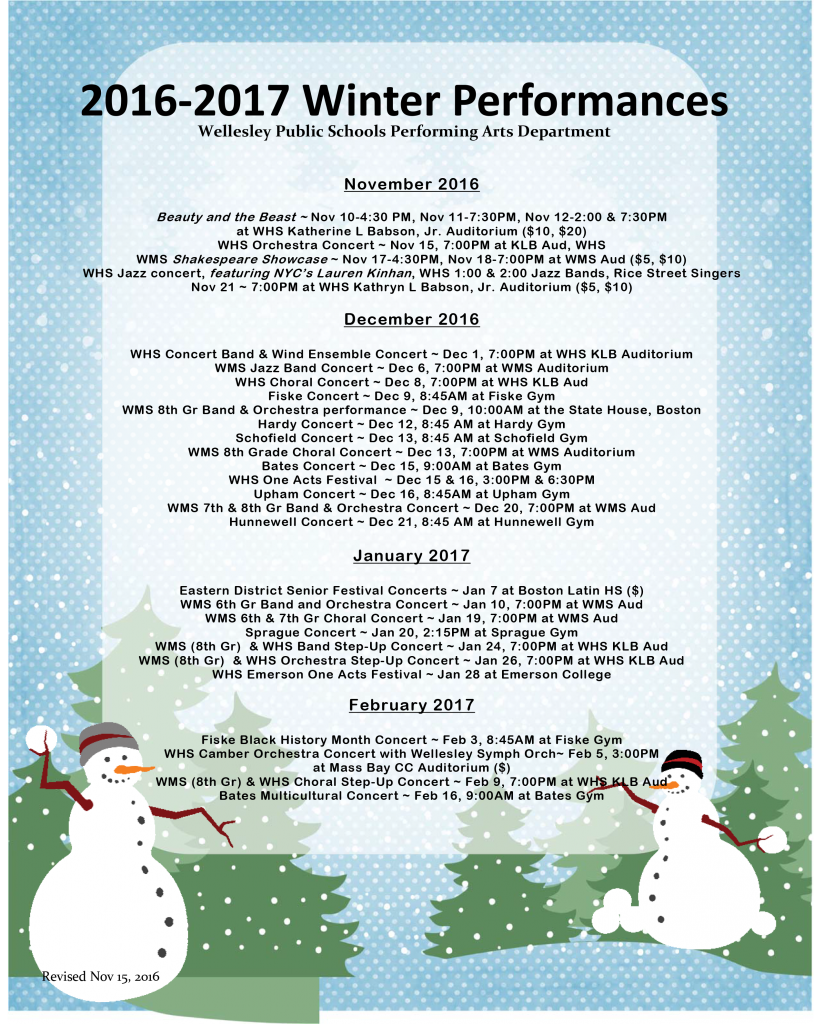 Winter Performances 2016-17