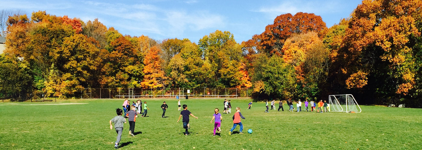 Schofield students playing on the field