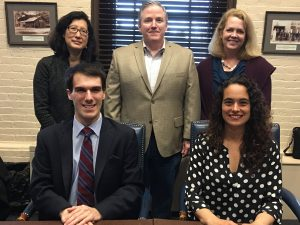 Members listed from left to right, seated: Michael D'Ortenzio, Jr. and Melissa Martin; Standing: Linda Chow, Matt Kelley and Sharon Gray