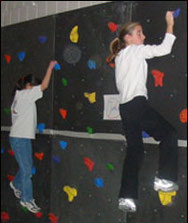 Sprague PE Class Rock Climbing