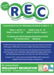 REC Summer Program Brochure Cover