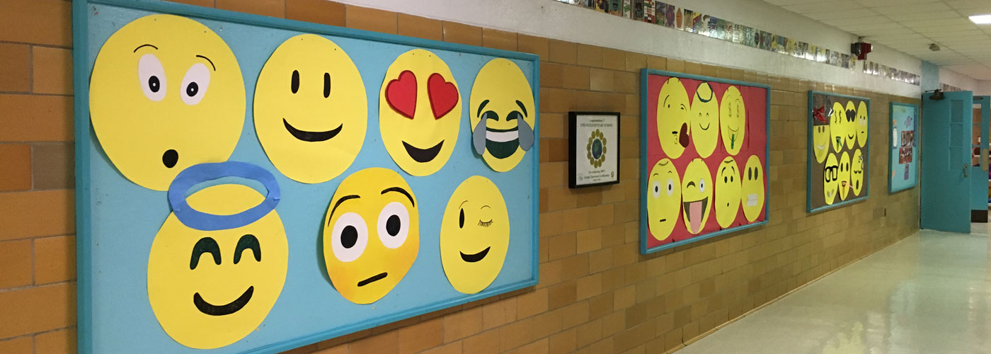 Emoticons on Upham bulletin board