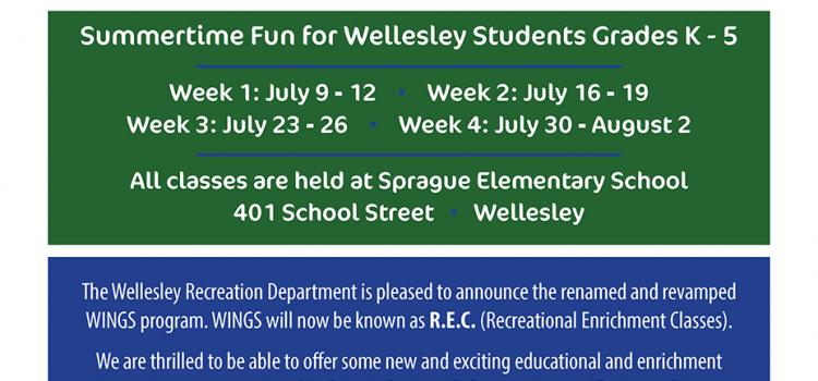 Recreational Enrichment Classes (REC) – Summer 2018