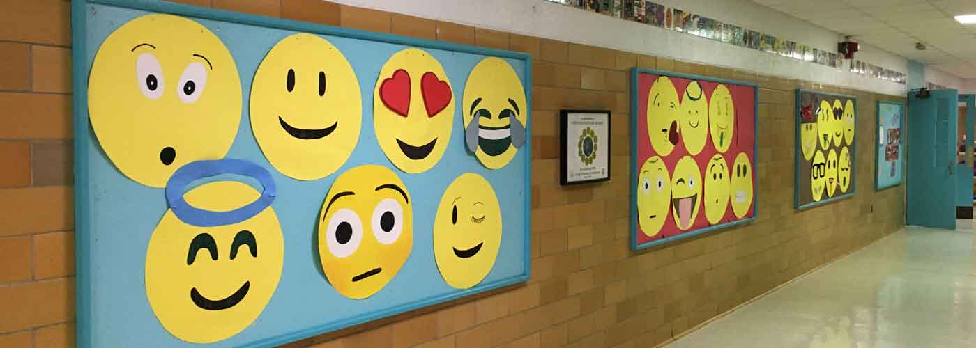 Emoji Bulletin Board at Upham