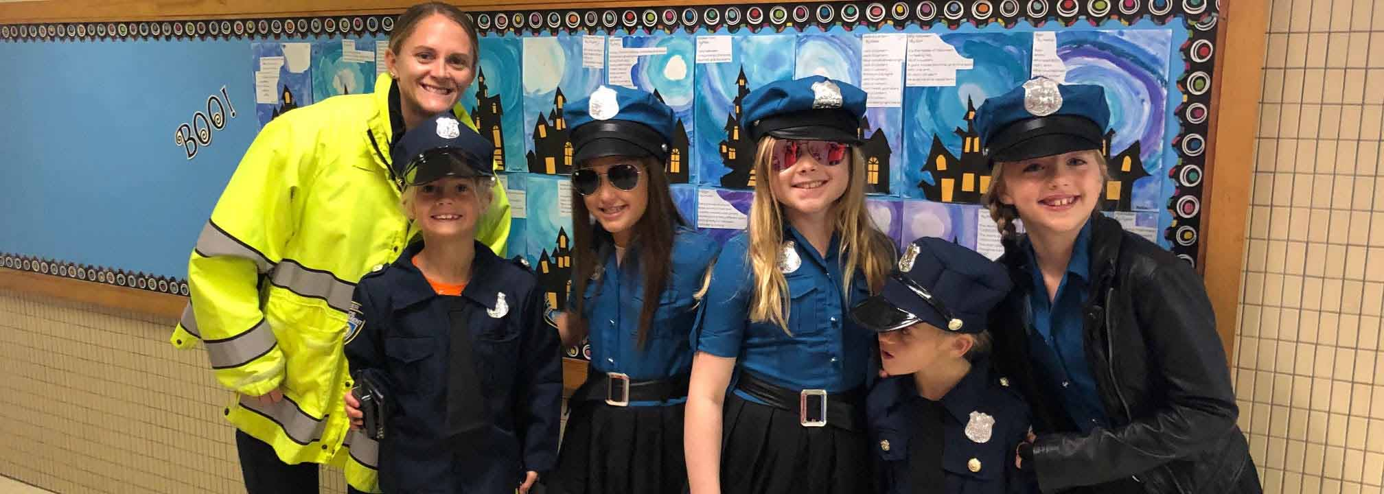 Student Dressed as Police Officers for Halloween