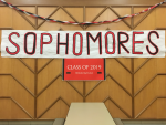 The Sophomore Class Banner displayed in the Sophomore area of the Cafeteria