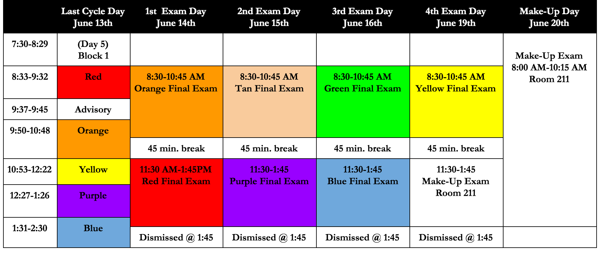 last day of exam Final exam schedules registration info course descriptions display student schedule view online schedule of classes advising procedures for continuing students.