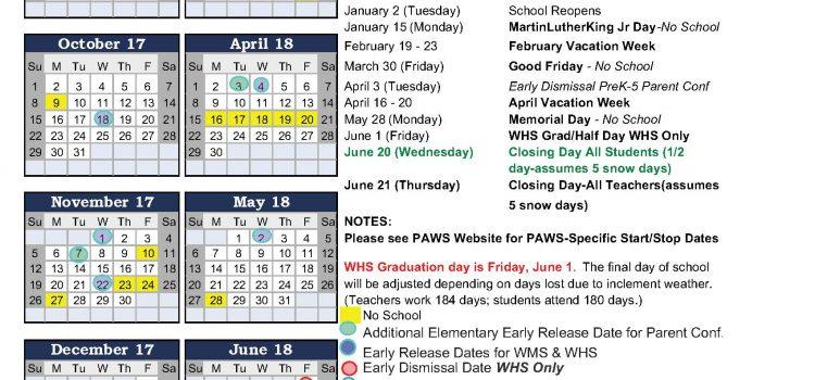 Final 2017-18 WPS Academic Calendar