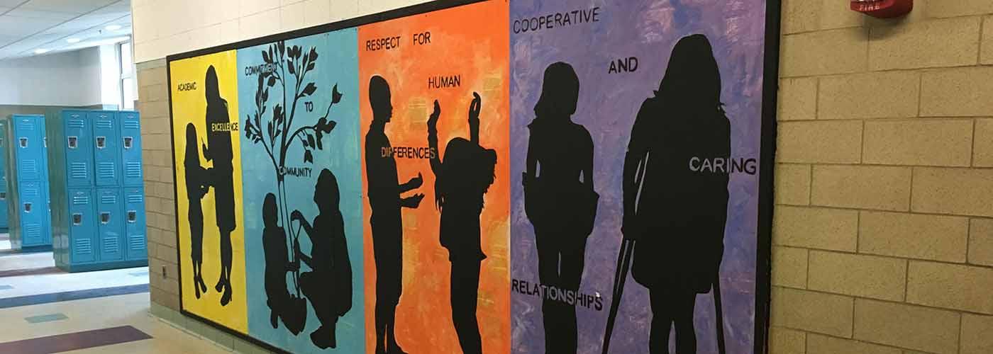 WMS Core Values Mural