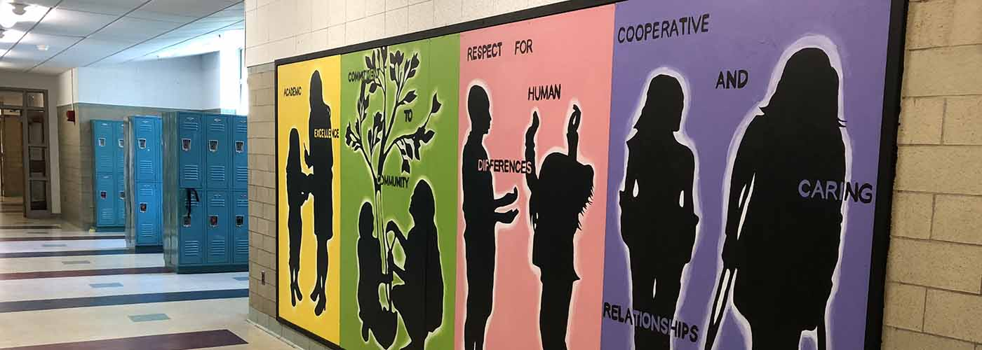 WMS Core Values Mural