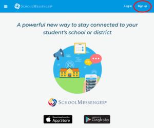 Go SchoolMessenger SignUp