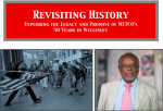 Revisiting History Exploring the Legacy and Promise of METCO's 50 Years in Wellesley