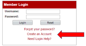 WebTrac Create an Account Screenshot
