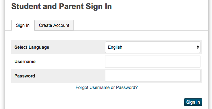 Sign-In for Parents Screenshot