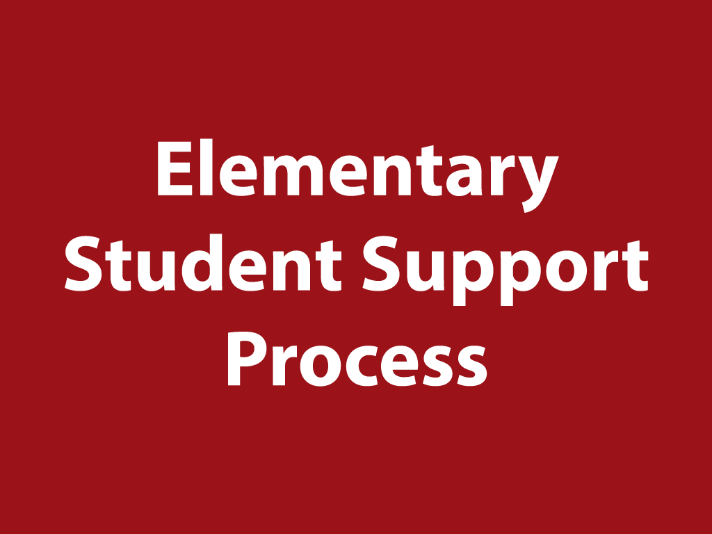 Elementary Student Support Process
