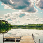 Summer Scene Lake with Dock