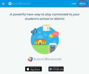 Go SchoolMesenger SignUp Screenshot