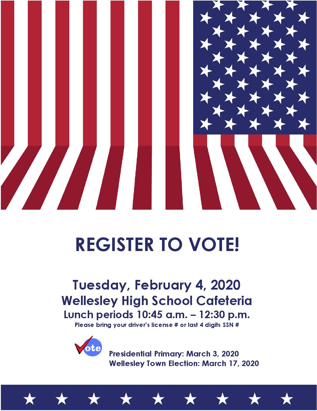 LWV Student Registration Day at WHS – 2/4/20